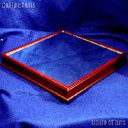 Wood Base for Basketball Cube by BCW Woodbase for Basketball Holder w/ Mirror