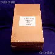 1000 Flat Kraft Paper Coin Wrappers for 20 HALF DOLLARS