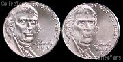 2010 P & D Jefferson Nickels Gem BU (Brilliant Uncirculated)