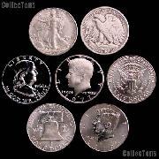 American Coins by Date - U.S. Half Dollars