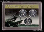 1943 Steel Penny Set Reprocessed in Coin Holder