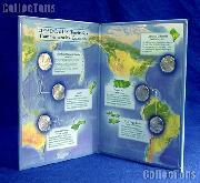 2009 Quarter Set P Mint 6 2009 State Quarters in Littleton Coin Folder LCF41