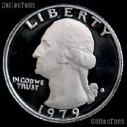 1979-S Washington Quarter Type 1 PROOF Filled S Coin