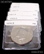 Proof Half Dollar Coin Starter Set 25 Different Proof Kennedy Half Dollars 1971  to Date