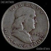 1950 Franklin Half Dollar Silver Coin 1950 Half Dollar Coin