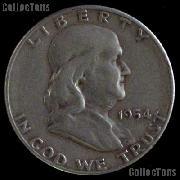 1954-D Franklin Half Dollar Silver Coin 1954 Half Dollar Coin