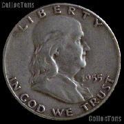 1955 Franklin Half Dollar Silver Coin 1955 Half Dollar Coin
