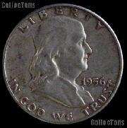 1956 Franklin Half Dollar Silver Coin 1956 Half Dollar Coin