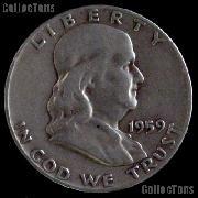 1959 Franklin Half Dollar Silver Coin 1959 Half Dollar Coin