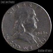 1962-D Franklin Half Dollar Silver Coin 1962 Half Dollar Coin