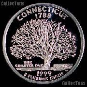 1999-S Connecticut State Quarter SILVER PROOF 1999 Silver Quarter