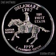 1999-S Delaware State Quarter SILVER PROOF 1999 Silver Quarter
