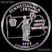 1999-S Pennsylvania State Quarter SILVER PROOF 1999 Silver Quarter