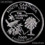 2000-S South Carolina State Quarter SILVER PROOF 2000 Silver Quarter