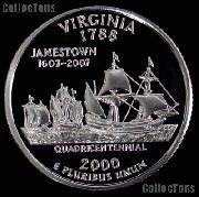 2000-S Virginia State Quarter SILVER PROOF 2000 Silver Quarter
