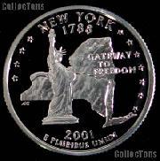2001-S New York State Quarter SILVER PROOF 2001 Silver Quarter