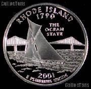 2001-S Rhode Island State Quarter SILVER PROOF 2001 Silver Quarter