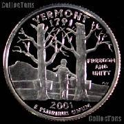 2001-S Vermont State Quarter PROOF Coin 2001 Quarter