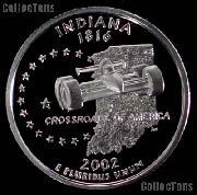 2002-S Indiana State Quarter PROOF Coin 2002 Quarter