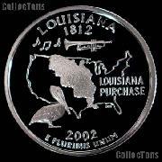 2002-S Louisiana State Quarter PROOF Coin 2002 Quarter