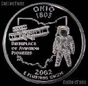 2002-S Ohio State Quarter SILVER PROOF 2002 Silver Quarter