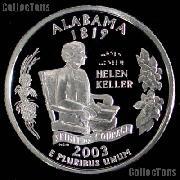 2003-S Alabama State Quarter SILVER PROOF 2003 Silver Quarter