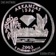 2003-S Arkansas State Quarter SILVER PROOF 2003 Silver Quarter