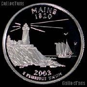 2003-S Maine State Quarter SILVER PROOF 2003 Silver Quarter