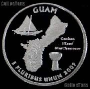 2009-S Guam Quarter SILVER PROOF Coin 2009 Silver Quarter
