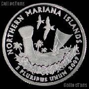 2009-S N. Mariana Islands Quarter SILVER PROOF 2009 Silver Quarter