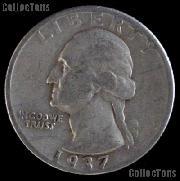 1937-S Washington Quarter Silver Coin 1937 Silver Quarter