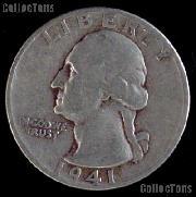 1941-S Washington Quarter Silver Coin 1941 Silver Quarter