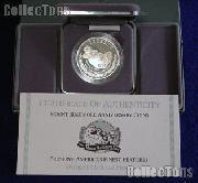 1991-S Mount Rushmore Golden Anniversary Commemorative Proof Silver Dollar