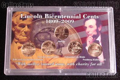 2009 Lincoln Cent Bicentennial Coin Set in Holder (5 Uncirculated Penny Set)