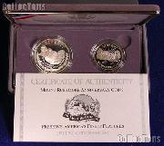 1991 Mount Rushmore Commemorative 2 Coin Proof Set