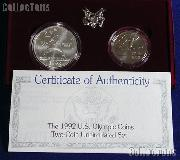1992 XXV Olympiad 2 Coin Commemorative Uncirculated Set
