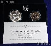 1991-1995 World War II 50th Anniversary Commemorative 2 Coin Uncirculated Set