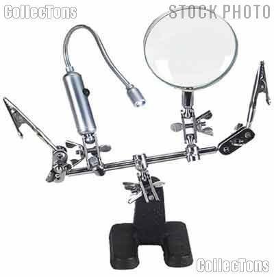 Third Hand Tool w/ 2x Magnifier & Flex Neck Light LED