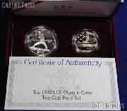 1992 XXV Olympiad 2 Coin Commemorative Proof Set