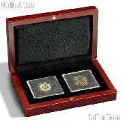 Coin Box Wooden for Two  2x2 Coin Holders QUADRUM by Lighthouse VOLTERRA QUADRUM 2