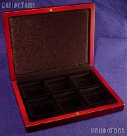 Coin Box Wooden for Six 2x2 Coin Holders QUADRUM by Lighthouse VOLTERRA QUADRUM 6