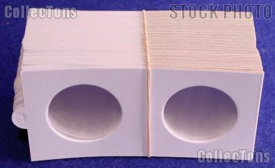 100 2x2 Bulk Supersafe Self-Adhesive Paper Coin Flips for Half Dollars