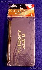 """Large Pocket Currency Album by H.E. Harris, 8.25"""" x 4.5"""""""