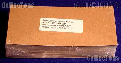 100 Bill Holders Museum Quality Modern Currency by Dupont Melinex 6.5 x 3