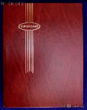 Stamp Album Stockbook in Red by Supersafe (B 4/8) 16 Black Stamp Stock Book Pages