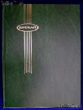 Stamp Album Stockbook in Green by Supersafe (B 4/8) 16 Black Stamp Stock Book Pages