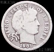 1901-S Barber Dime G-4 or Better Liberty Head Dime