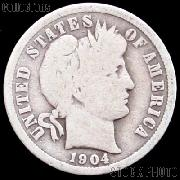 1904-S Barber Dime G-4 or Better Liberty Head Dime