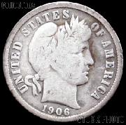 1906 Barber Dime G-4 or Better Liberty Head Dime