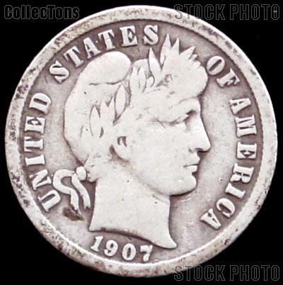 1907 O Barber Dime G 4 Or Better Liberty Head Dime 7 99